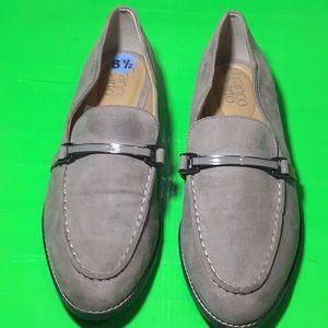 Franco Sarto- Gray suede loafers